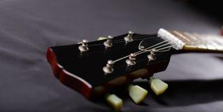 Testa motrice della chitarra Fotografie Stock Libere da Diritti