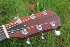 Testa motrice della chitarra acustica Immagini Stock