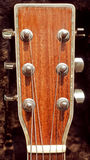 Testa motrice della chitarra acustica Fotografie Stock