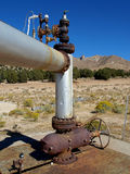 Testa motrice geotermica Fotografia Stock