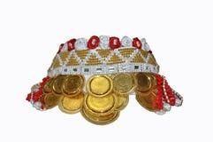 Testa o cappuccio dei gioielli del ` s della sposa di Gorani Fotografia Stock