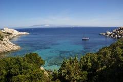 Testa pequeno do Capo da angra em Sardinia Fotografia de Stock Royalty Free