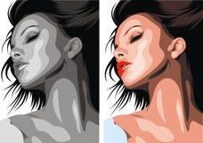 Testa piacevole della donna royalty illustrazione gratis