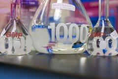 Testa-rör glasföremål Arkivfoto