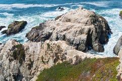 Testa Rocky Coast del Bodega e marea Fotografia Stock Libera da Diritti