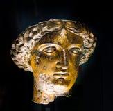 Testa romana bronzea della statua di Sulis Minerva Immagine Stock
