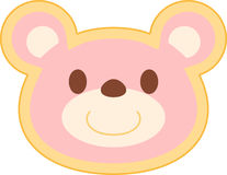 Testa rosa dell'orso Fotografia Stock