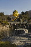 Testa scolpita di Buddha Fotografia Stock Libera da Diritti