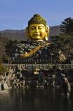 Testa scolpita di Buddha Fotografia Stock