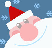 Testa sorridente del Babbo Natale Fotografia Stock
