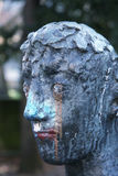 Testa sporca della statua Fotografia Stock