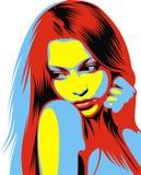 Testa stilizzata della ragazza piacevole (donne) dal mio sogno Fotografie Stock