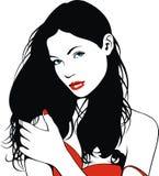 Testa stilizzata della ragazza piacevole (donne) dal mio sogno Immagine Stock Libera da Diritti