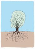 Testa Tree-shaped Immagini Stock Libere da Diritti