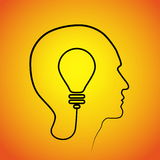 Testa umana che pensa una nuova idea Idea creativa Fotografia Stock