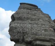 Testa umana della roccia Fotografia Stock