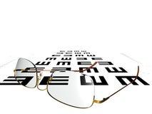 testa vision stock illustrationer