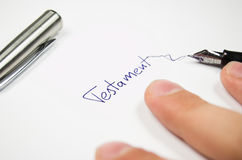 Testament Stock Images