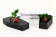 Testament Royalty Free Stock Image