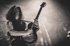 Testament, Alex Skolnick live in concert 2016 heavy thrash metal band Royalty Free Stock Photos