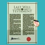 Testament design. Stock Images