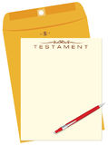 Testament with envelope Stock Images