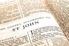 testament för bibeljohn ny st royaltyfria bilder