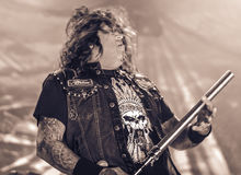 Testament live in concert 2016 heavy thrash metal band Royalty Free Stock Photo
