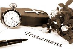 Testamento imágenes de archivo libres de regalías