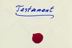 Testamento en alemán Imagen de archivo libre de regalías
