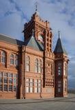 Testata del molo, baia di Cardiff, Galles Immagine Stock