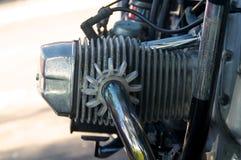 Testata di cilindro d'annata del motociclo Immagini Stock