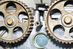Testata di cilindro del motore di automobile Fotografie Stock Libere da Diritti