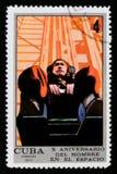 Teste da aceleração, 10 de Crewed anos de serie do voo espacial, cerca de 1971 Imagens de Stock