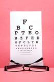 Teste da carta de olho foto de stock