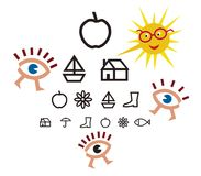 Teste da optometria para crianças Imagem de Stock Royalty Free