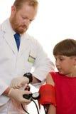 Teste da pressão sanguínea foto de stock