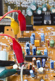 Teste da verificação de placas eletrônicas Fotografia de Stock Royalty Free