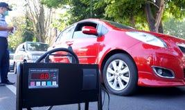 Teste das emissões Foto de Stock
