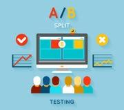 Teste de comparação do AB Imagem de Stock