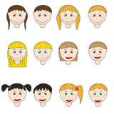 Teste dei bambini Immagini Stock Libere da Diritti