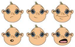 Teste dei neonati Immagine Stock Libera da Diritti