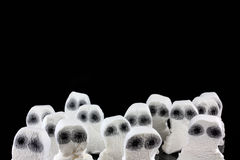 Teste del fantasma in una folla spaventosa Fotografia Stock