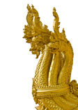 Teste del Naga dorato nell'isolamento Fotografia Stock Libera da Diritti