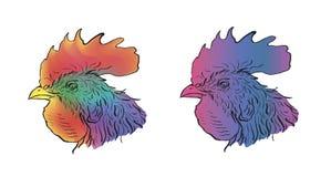 Teste del pollo olored ¡ di Ð Fotografie Stock Libere da Diritti