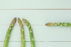 Teste dell'asparago Fotografia Stock