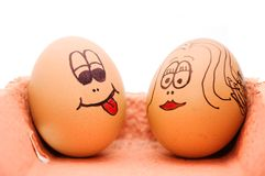 Teste dell'uovo Fotografie Stock Libere da Diritti