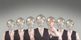 Teste della lampadina Fotografie Stock