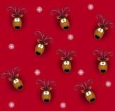 Teste della renna di Tileable Immagine Stock