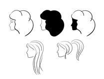 Teste delle donne - illustrazione - vettore Illustrazione di Stock